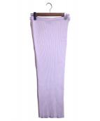 TOTEME(トーテム)の古着「リブニットスカート」|ホワイト