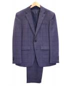 SUIT SELECT(スーツセレクト)の古着「3ピースチェックスーツ」 グレー