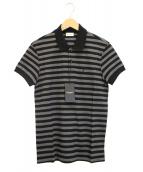 Saint Laurent Paris(サンローランパリ)の古着「ボーダーポロシャツ」|ブラック×グレー