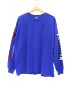THRASHER(スラッシャー)の古着「スリーブロゴカットソー」|ブルー