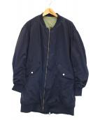 FAD3(ファッドスリー)の古着「ロングMA-1ジャケット」|ネイビー