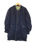 FAD3(ファドスリー)の古着「ロングMA-1ジャケット」 ネイビー