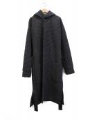 ATON(エイトン)の古着「パッチポケットローブコート」|グレー