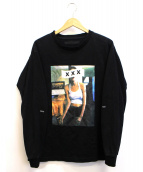 GOD SELECTION XXX(ゴットセレクショントリプルエックス)の古着「アンジェリーナジョリープリントTシャツ」|ブラック