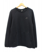 NIKE(ナイキ)の古着「テックフリースクルーネックスウェット」|ブラック