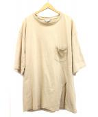UNUSED(アンユーズド)の古着「ビッグシルエットTシャツ」|ベージュ