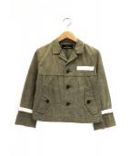 tricot COMME des GARCONS(トリコ コムデギャルソン)の古着「カットオフジャケット」|カーキ