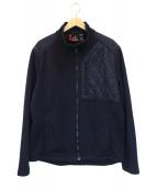 VICTORINOX(ビクトリノックス)の古着「キルティング切替ジャケット」|ネイビー
