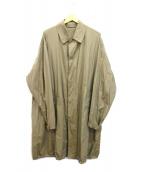 AURALEE(オーラリー)の古着「BIG SOUTIEN COLLAR COAT」|ベージュ