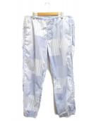 BEAMS×SSZ(ビームス×エスエスズィー)の古着「チェックイージーパンツ」|ブルー×ホワイト