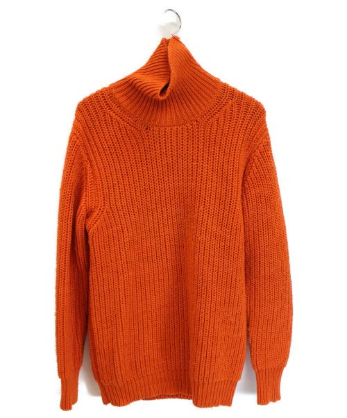 HAVERSACK(ハーバーサック)HAVERSACK (ハーバーサック) ワッフルニット オレンジ サイズ:Lの古着・服飾アイテム