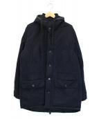 Acne(アクネ)の古着「デザインダウンジャケット」 ネイビー