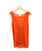 HERMES(エルメス)の古着「ノースリーブニット」|オレンジ