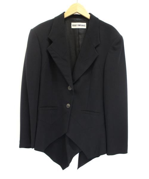 ISSEY MIYAKE(イッセイミヤケ)ISSEY MIYAKE (イッセイミヤケ) デザインジャケット ブラック サイズ:Mの古着・服飾アイテム