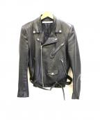 JOHN LAWRENCE SULLIVAN()の古着「ラムスキンバイクズジャケット」|ブラック