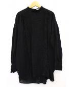 FRAMeWORK(フレームワーク)の古着「刺繍フリンジブラウス」|ブラック