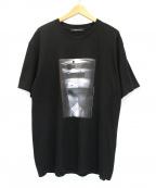 ALMOSTBLACK(オールモストブラック)の古着「プリントTシャツ」 ブラック