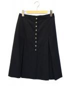 agnes b(アニエスベー)の古着「スナップボタンスカート」|ブラック
