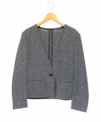icB(アイシービー)の古着「ノーカラージャケット」|グレー