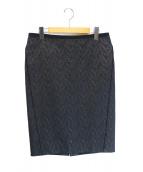 Drawer(ドゥロワ)の古着「ジャガードタイトスカート」 ブラック