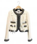 leur logette(ルルロジェッタ)の古着「ロービングツイードジャケット」 ホワイト