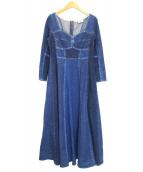 leur logette(ルールロジェット)の古着「デニムロングワンピース」 インディゴ