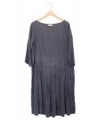 fog linen work(フォグリネンワーク)の古着「リネンワンピース」|グレー