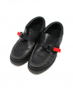 hobo(ホーボー)の古着「COW LEATHER DECK SHOES」|ブラック