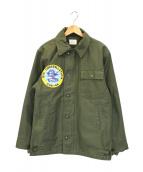 US NAVY(ユーエスネイビー)の古着「A-2デッキジャケット」|オリーブ