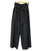 1er Arrondissement(プルミエ アロンディスモン)の古着「タックワイドパンツ」|ブラック