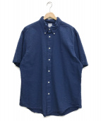 BROOKS BROTHERS(ブルックスブラザーズ)の古着「シアサッカーワンポイント半袖シャツ」|ブルー