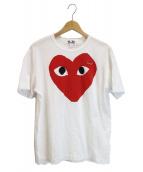 PLAY COMME des GARCONS(プレイコムデギャルソン)の古着「プリントTシャツ」|ホワイト