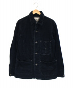 RRL(ダブルアールエル)の古着「Indigo Corduroy Chore Jacket」|ネイビー