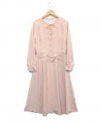 STRAWBERRY FIELDS(ストロベリーフィールズ)の古着「ピュアミールジョーゼットワンピース」|ピンク