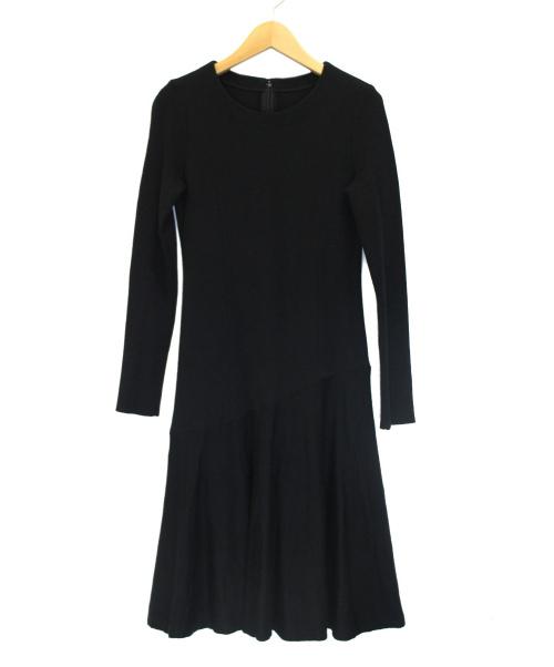 Rene(ルネ)Rene (ルネ) ニットワンピース ブラック サイズ:34の古着・服飾アイテム