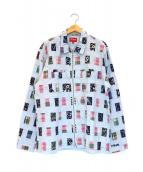 Supreme(シュプリーム)の古着「Patchwork Zip Up Shirt」|ブルー