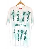 Supreme(シュプリーム)の古着「Nueva York S/S Top」|ホワイト×グリーン