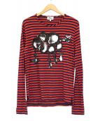 Vivienne Westwood man(ヴィヴィアン ウェストウッド マン)の古着「クラウドリラックスTシャツ」|レッド×ネイビー