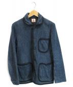 SAMURAI JEANS(サムライジーンズ)の古着「刺子ジャケット」|ネイビー