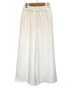 1er Arrondissement(プルミエ アロンディスモン)の古着「ウールワイドパンツ」|ホワイト