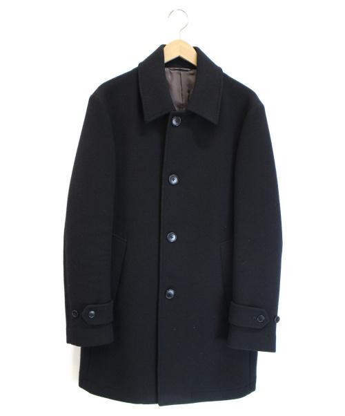 SHIPS(シップス)SHIPS (シップス) メルトンシングルコート ブラック サイズ:XLの古着・服飾アイテム