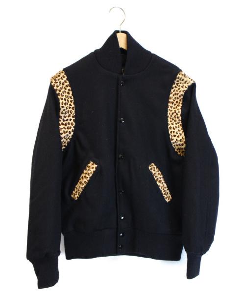 SKOOKUM(スクーカム)SKOOKUM (スクーカム) レオパード切替スタジャン ブラック サイズ:36 未使用品の古着・服飾アイテム