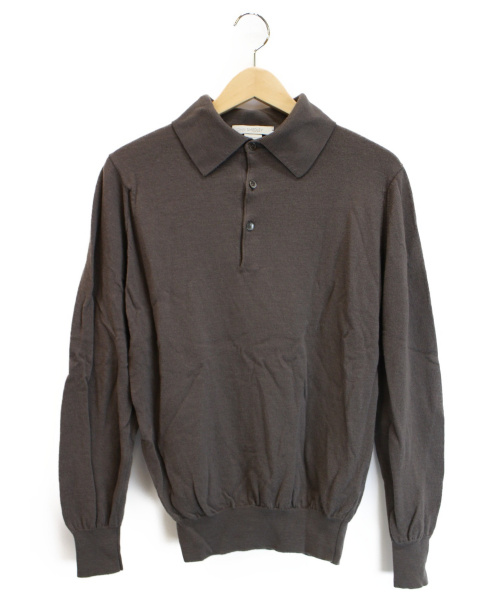 JOHN SMEDLEY(ジョンス メドレー)JOHN SMEDLEY (ジョンス メドレー) ニットポロシャツ ブラウン サイズ:下記参照の古着・服飾アイテム