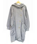 FRAPBOIS(フラボア)の古着「スウェットフーデッドコート」|グレー