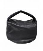 kawa-kawa(カワカワ)の古着「プリーツワンショルダーバッグ」|ブラック
