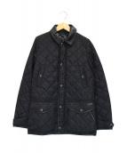 ()の古着「レザーカラーキルティングジャケット」|ブラック