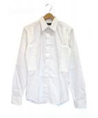 GIVENCHY(ジバンシィ)の古着「切替フライフロントシャツ」|ホワイト