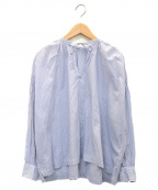 ordinary fits(オーディナリーフィッツ)の古着「ストライプブラウス」|ブルー