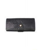 土屋鞄(ツチヤカバン)の古着「アジールクラッチロングウォレット」|ブラック