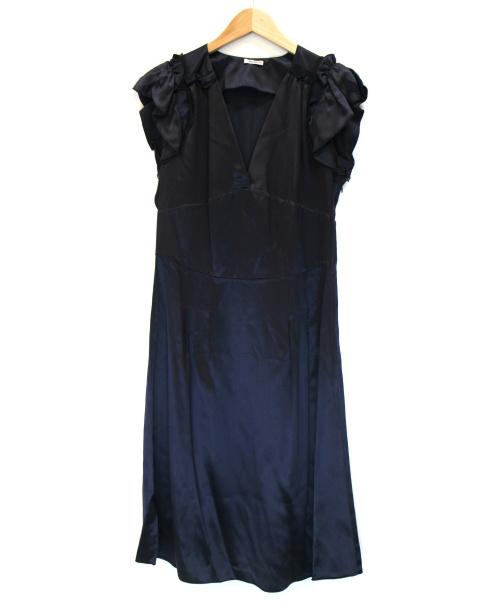 MIU MIU(ミュウミュウ)MIU MIU (ミュウミュウ) ノースリーブワンピース ネイビー サイズ:38の古着・服飾アイテム